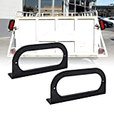 ONLINE LED STORE 2pc 6' Oval Tail Light Mounting Bracket [L Shaped] [3mm Powder Coated Steel] [Ultra Sturdy] [Versatile Mounting] for 6' Oval Trailer Tail Lights On Truck Trailer RV