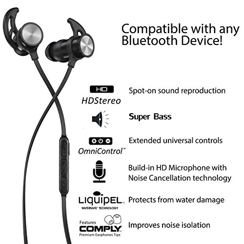 Auricolari Bluetooth busuo Cuffie Bluetooth nero