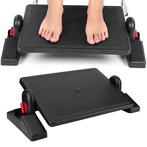 Reposapiés debajo del escritorio, reposapiés ergonómico portátil de altura ajustable Pedal con masajeador de pies para uso doméstico en la oficina