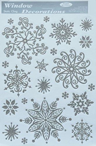 1 x Fensterdeko Schneeflocken Schnee Fensterschmuck wiederverwendbar