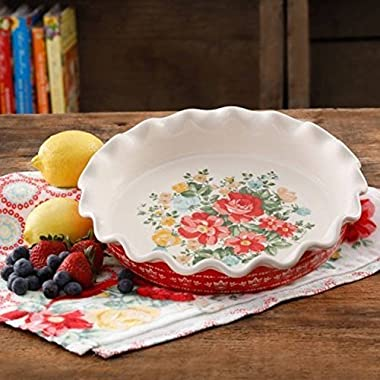 The Pioneer Woman Vintage Floral 9 Pie Plate (1)
