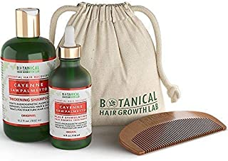 Anti Hair Loss DHT Blocker Shampoo and Pre-Shampoo Scalp Treatment Gift Value Set Cayenne - Saw Palmetto Hair Growth Botanical For Hair Thinning Prevention Alopecia Postpartum