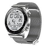 ZGZYL TM01 Smart Watch con Llamada Bluetooth, Trucidador De Fitness para Damas con Presión Arterial Y Monitoreo De Frecuencia Cardíaca, Podómetro IP68 Reloj A Prueba De Agua,E