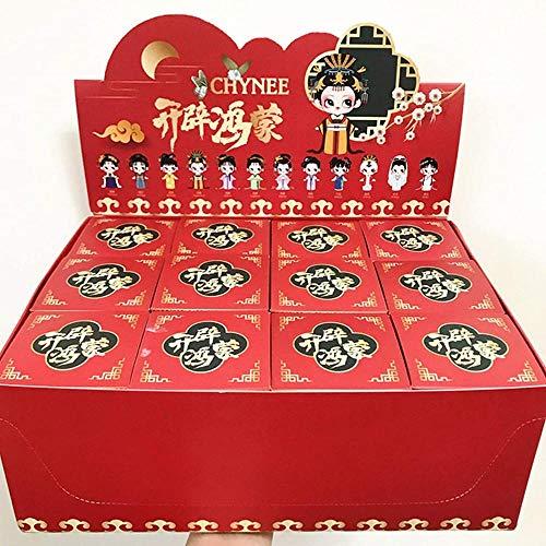 Caja ciega de madrugada de la Serie Dream of Red Mansions Abre muñecas de Estilo Chino Hongmeng Decoraciones de niña linda-12 Cajas