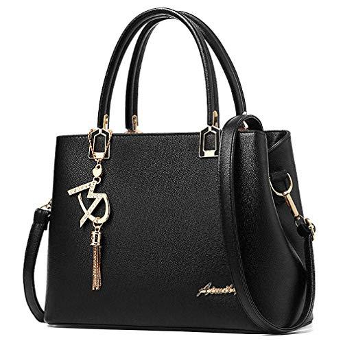 Damen Handtaschen und Schultertaschen Damen Designer Henkeltasche, Schwarz (schwarz), Einheitsgröße