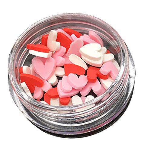 AchidistviQ Argile polymère 3D Nail Art Tranche de fruits Pétale de fleur Cœur Amour DIY Décoration 1