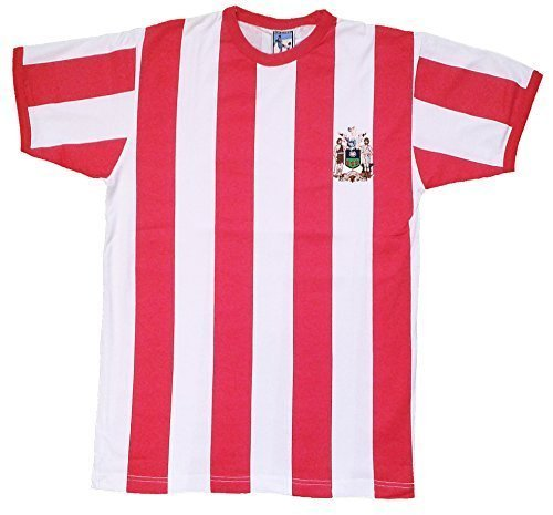 Old School Football Camiseta de Fútbol del Equipo Sheffield United 1972/73 Tallas Ch-2-Extra Grande - Rojo, Blanco, Chica