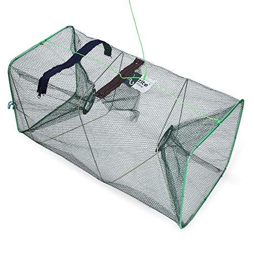 Zite Fishing - Red de pesca plegable con bolsa de alimentación (rectangular,...