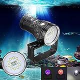 Gusspower Tauchen Taschenlampe, 12000LM Unterwasser 100m Professional Wasserdicht Submarine Licht...