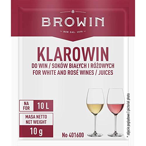 Browin Universales Weinklärmittel/Schönungsmittel für Weißweine und Rotweine Klarowin Turbo – Kieselsol 35 ml + 7 g Gelatine, Powder, Multicolored