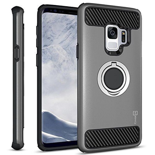grip ring with carbon fiber case for galaxy s9 plus