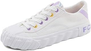 カジュアルスニーカー 女性スポーツシューズ足首のブーツスリップオンシューズスポーツシューズキャンディーカラー学生小さな白い靴 (Color : White, Size : 37)