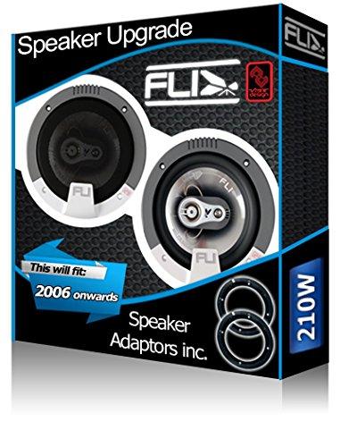 FORD S-MAX Porte avant Orateurs FLI Haut-parleurs de voiture + adaptateur pour haut-parleur gousses 210 W