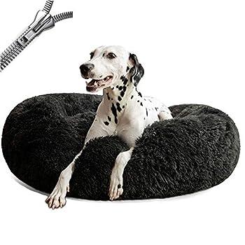 Puppy Love Panier Chien, Coussin Chien Anti Stress XXXL Dehoussable,Paniers Et Mobilier pour Chiens, Lit Moelleux Rond pour Chien, Lavable, Confortable#1-50cm