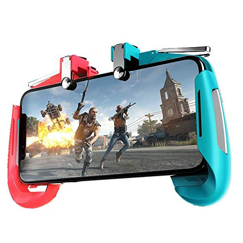 """King Shine Mobile Gamepad AK-16 Pubg Remote Controller Gamepad Alloy Metal Triggers L1 R1 Shooting Aim Button Handle Joystick Compatible with All Smartphones Upto 6.5"""" inch"""