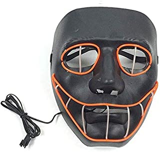 Fofofs Snake Eye Glowing Mask, LED Halloween Glowing Mask Masquerade Glowing Props Fluorescent LED Mask El Cold Ray Mask Voice Control, 4 Modes (Color : Ordinary)