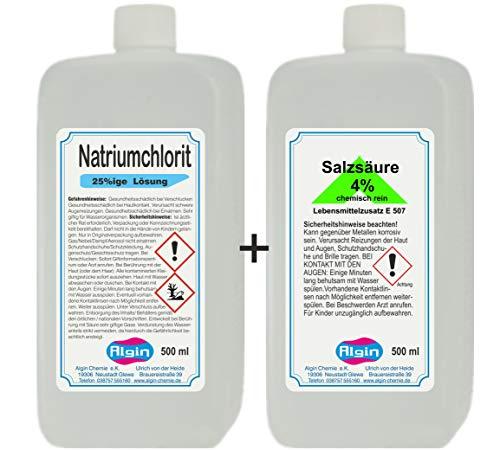 Natriumchlorit & Salzsäure 4% je 500 ml HDPE-Flaschen = 2 Flaschen