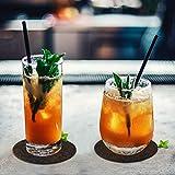Glowbal Filz Untersetzer rund für Gläser 12er Set, Design Glasuntersetzer in dunkelgrau für Getränke, Bar, Tassen, Glas - Tischuntersetzer Filzuntersetzer - 5