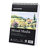 WONDERFUL DESIGN FEATURES - Top spiral make our drawing pad friendly for both left-handed and right-handed, paper inside the drawing pad is very beautiful & smooth while drawing. Pages are easily torn from the notebook with punctures. Perfect use for...