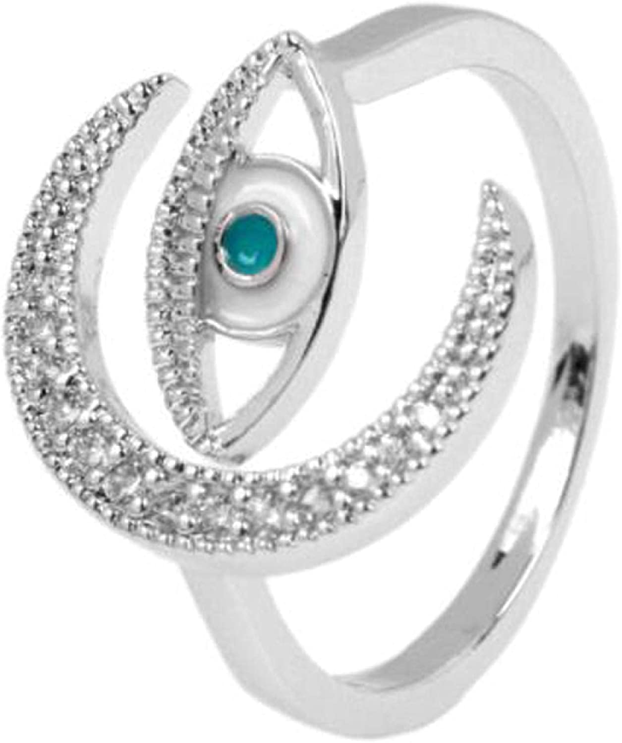 Turkish Eye Ring Quality New product! New type inspection Adjustable Silver Finger Color Gold