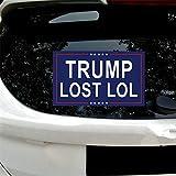 vylymuses Trump Lost Sticker Trump Lost LOL Bumper Sticker Decal,Anti Biden 5.9'x 9.84' Decals for Laptop Car Bumper Window Decorations,Vivid Color and UV Fade Resistant