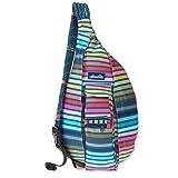 KAVU Original Rope Sling Bag Polyester Crossbody Backpack - Chroma Stripe