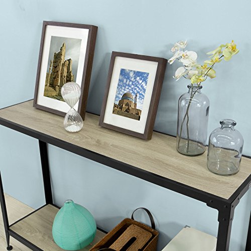 Haotian FSB08-SCH, Console Sofa Table Hall Table with One Shelf, W48.82 x D12.60 x H32.28in