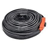 Protección contra heladas, cable calefactor, cinta calefactora, tubo calefactor 14m 230 vatios.