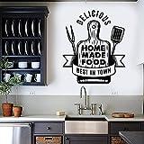 Etiqueta de la pared Tabla de cortar Comida Deliciosa cocina Restaurante Decoración Etiqueta de vinilo