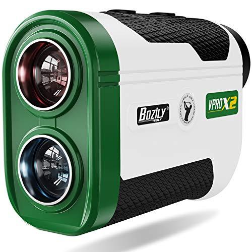 Bozily Golf Rangefinder, 1500 Yards Laser Rangefinders with Slope Vibration, Fast Flag-Locking, Continuous Scan Mode for Distance and Slope Measurement