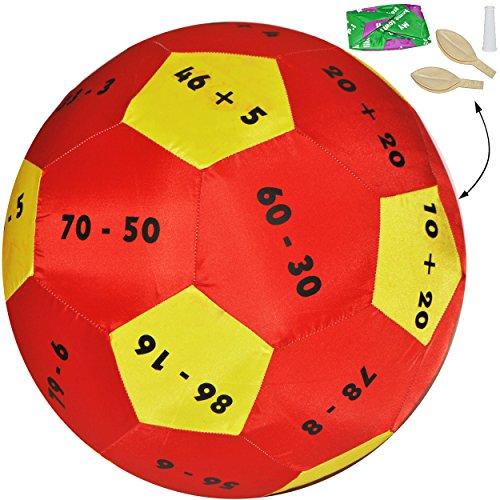 XL - Lernspielball -  Zahlen & Rechnen - bis 100 - Mathematik - alle Sprachen !  - Ø 40 cm - Lernspiel Ball - Lernen & Üben & Kennenlernen - Lernball - Kind..