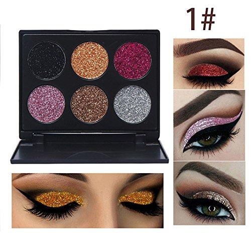 Glitter Tavolozza di trucco dell'ombretto, Ruwhere Palette di Ombretti Shimmer Face Makeup Kit Gel Glitter da Applicare su viso unghie corpo labbra trucco paletta di trucco altamente pigmentata