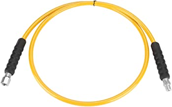 High Pressure Hydraulic Hose, 1/4 inch 2m 2 Wire Yellow Hydraulic Hose with Connectors 120MPa
