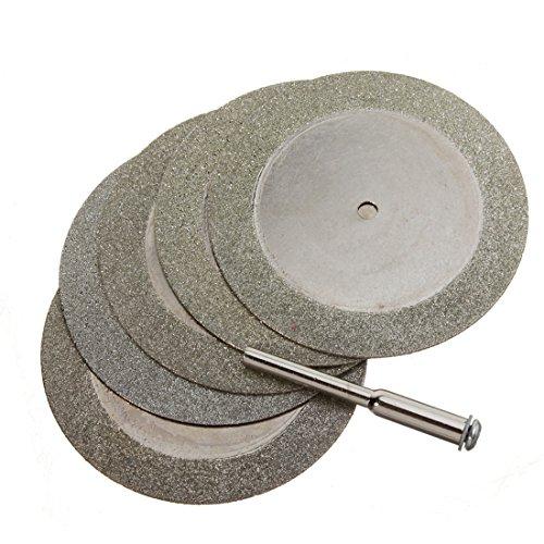 OriGlam, punta per trapano e mini dischi da taglio diamantati per tagliare vetro e pietre preziose, adatti all'uso con utensili a rotazione