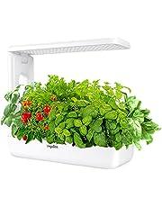 VegeBox Spectrum LED Hydroponics Growing System, Indoor LED Lighting Herb Kitchen Garden Germination Starter Kits (Black, 12 Pods)