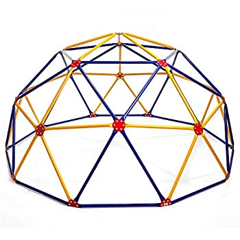 Easy Outdoor Space Dome Climber – Rust and UV Resistant Steel – 1000 lb Capacity – For Kids Ages 3 to 9