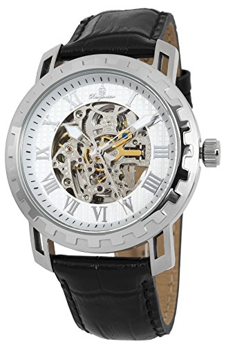 Burgmeister Armbanduhr für Herren mit Analog Anzeige, Automatik-Uhr und Lederarmband - Wasserdichte Herrenuhr mit zeitlosem, schickem Design - klassische Uhr für Männer - BM328-112 Jamaika