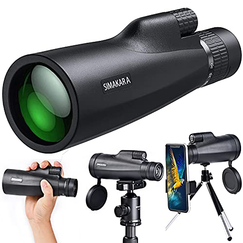 Monocular Telescope, 10-30x50 HD High Power Monocular Low Night Vision, Waterproof Zoom Monocular for Adults Bird Watching Hiking Traveling Concert Sport Game with Smartphone Adapter Tripod