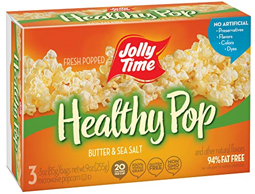 Review Jolly Time Healthy Pop Butter 94% Fat Free Weight Watchers Microwave Popcorn, 3-Count Boxes (...