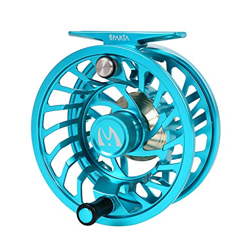 Price comparison product image M MAXIMUMCATCH Maxcatch Sparta Fly Reel Fully Sealed Lightweight Expert Fly Fishing Reel(3 / 5wt,  5 / 7wt,  7 / 9wt,  8 / 10wt) (Ice Blue,  5 / 7wt)