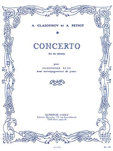 GLAZUNOV - Concierto en Mib para Saxofon Mib y Piano (Petiot
