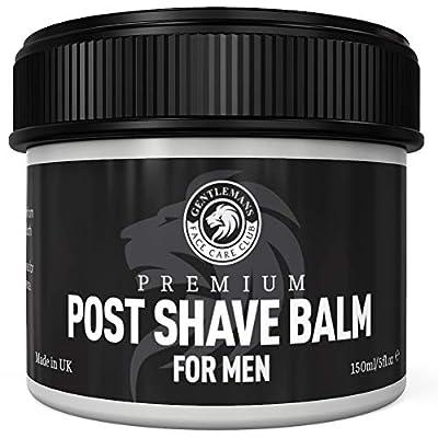 Post Shave Balm For Men - Gentlemans Face Care Club Vegan Friendly After Shave Gel With Witch Hazel + Aloe Vera Calms Sensitive Skin & Razor Burn Fast