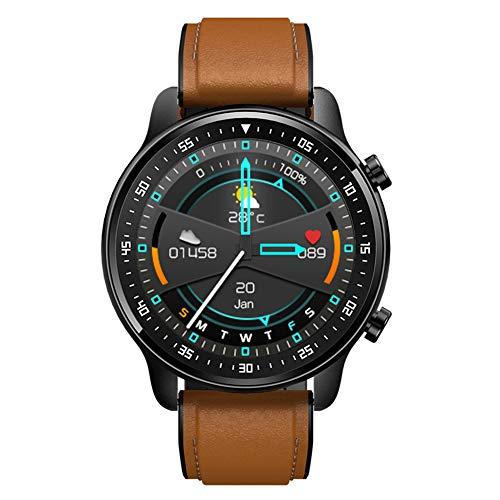 Smart Touchscreen Uhr mit Herz Rate/Schlaf Monitor MP3 Player Musik Uhr IP67 wasserdichte Fitness Tracker Pedometer Cardio Sport Uhren für Männer Frauen (Brown)