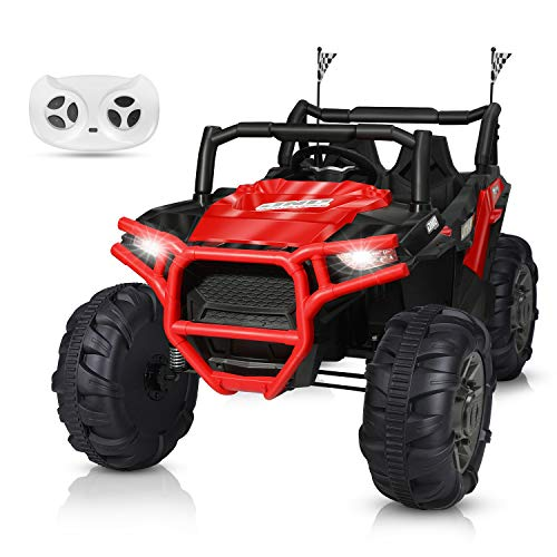 BAHOM 12V Electric Ride on Truck Car 2 Seats for Kids with...
