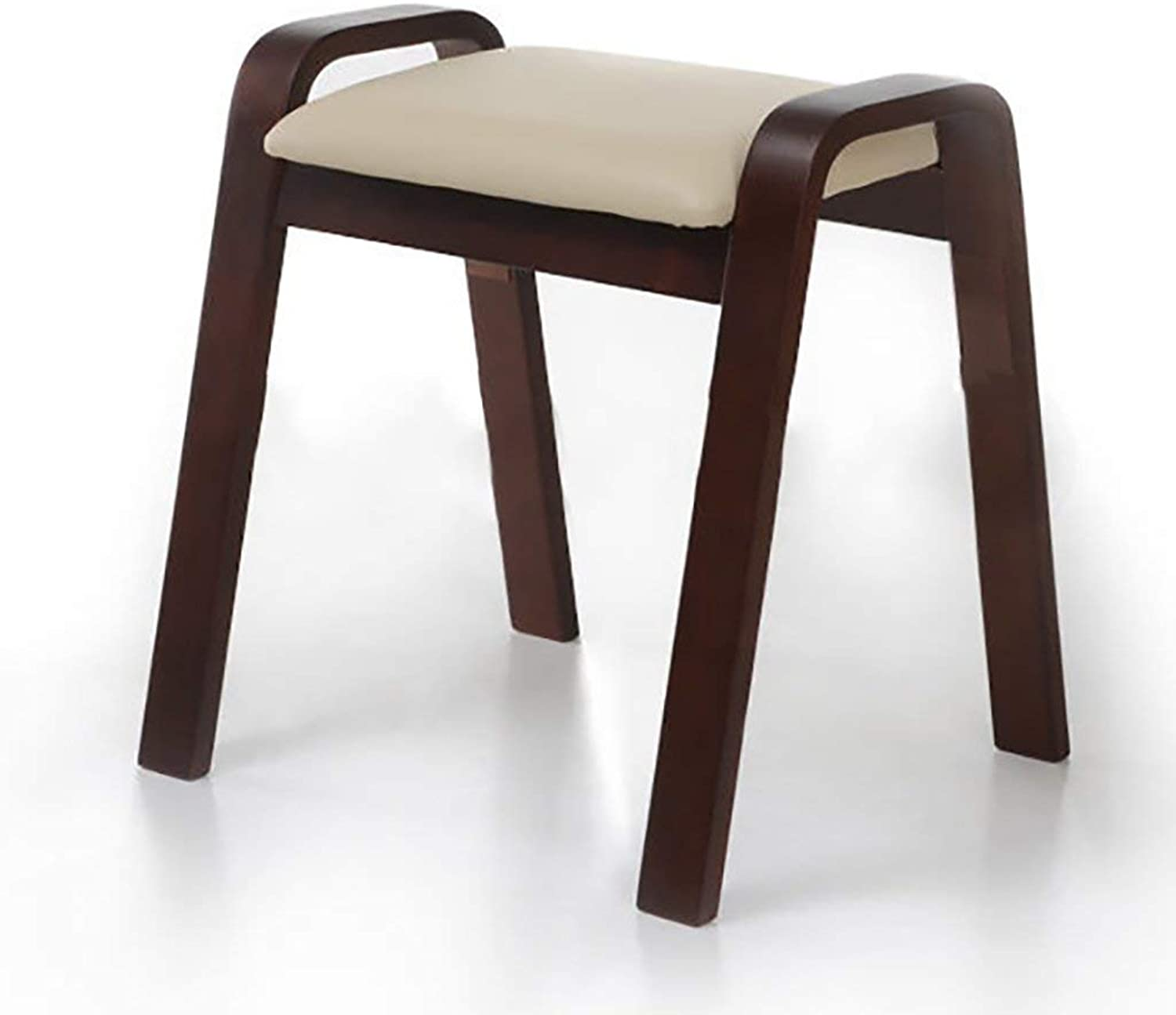 YUHUS HOME Stylish solid wood stool wooden curved wooden stool creative simple dining stool home bench sofa stool - small stool (color   A)