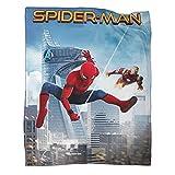 DRAGON VINES Manta de animación de cine Spider ManHomecoming Manta de lana ligera suave y cómoda, adecuada para viajes y playa de 130 x 180 cm, manta de fuego y extintor