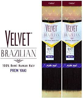 Outre Remy Human Hair Weave Velvet Brazilian Perm Yaki (10