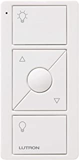 Lutron 3-Button with Raise/Lower Pico Remote for Caseta Wireless Smart Lighting Dimmer Switch, PJ2-3BRL-WH-L01R, White