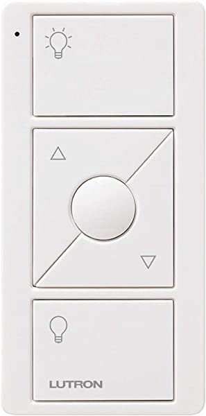 Lutron 3 Button With Raise Lower Pico Remote For Caseta Wireless Smart Lighting Dimmer Switch PJ2 3BRL WH L01R White