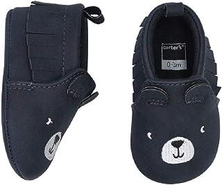 Carter's 婴儿中性款男孩/女孩软底熊软帮鞋,灰色,0-3 个月